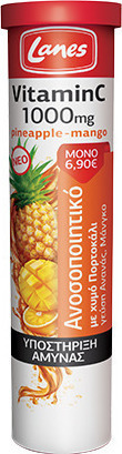 LANES VITAMIN C 1000mg & PINEAPPLE 20ανα …