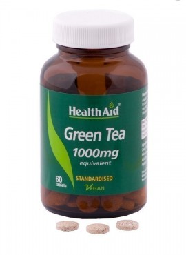 HEALTH AID GREEN TEA EXTRACT 1000mg 60ta …