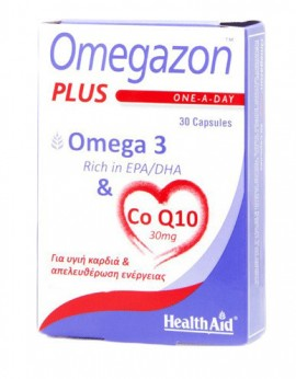 HEALTH AID OMEGAZON PLUS OMEGA 3 & COQ10 …