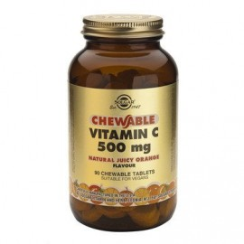 SOLGAR VITAMIN-C 500mg CHEWABLE ORANGE 9 …