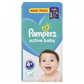 PAMPERS ACTIVE BABY No4+ (10-15kg) 53τμχ