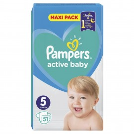 PAMPERS ACTIVE BABY No5 (11-16kg) 51τμχ