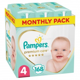 PAMPERS PREMIUM CARE No4 (8-14kg) MONTHL …