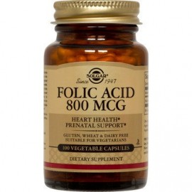 Solgar Folic Acid 800μg 100tabs