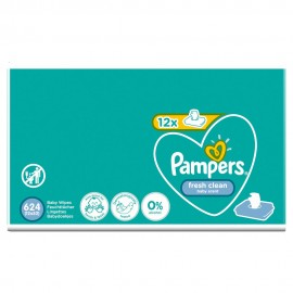 PAMPERS ΜΩΡΟΜΑΝΤΗΛΑ FRESH CLEAN 12x52τμχ