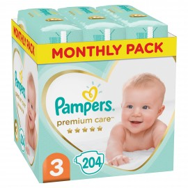 PAMPERS PREMIUM CARE No3 (6-10kg) MONTHL …