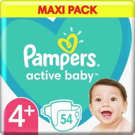Pampers Active Baby No 4+ (10-15kg) 54τμ …