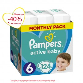 PAMPERS ACTIVE BABY No6 (13-18kg) MONTHL …