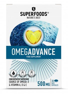 SUPERFOODS OMEGADVANCE 500mg 30caps