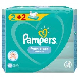 PAMPERS ΜΩΡΟΜΑΝΤΗΛΑ FRESH CLEAN 2+2 x 52 …