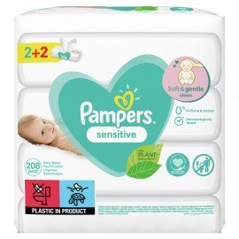 PAMPERS ΜΩΡΟΜΑΝΤΗΛΑ SENSITIVE 2+2 4x52τμ …