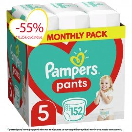 Pampers Pants No5 Monthly (12-17kg) 152τ …