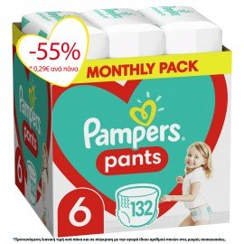 Pampers Pants No6 Monthly (15+kg) 132τμχ